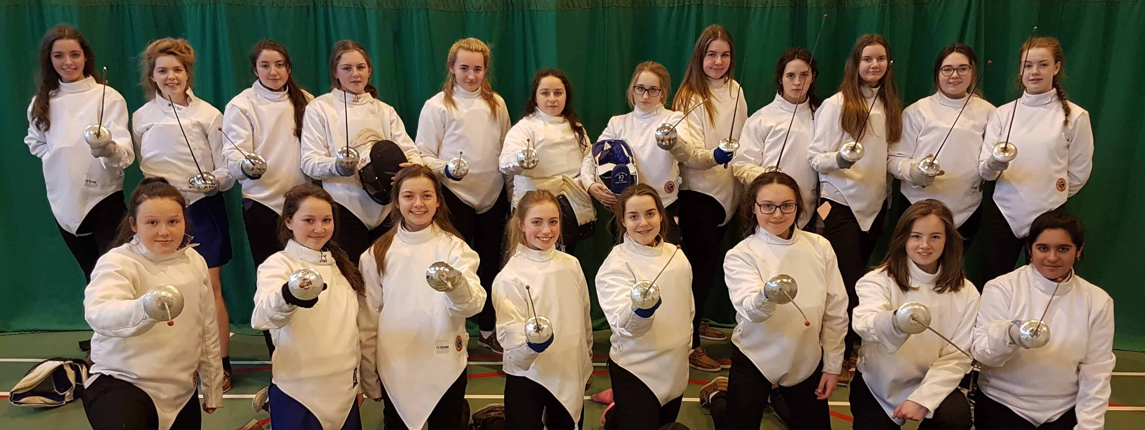 First Fencing Class for St Mary's Secondary School, Nenagh